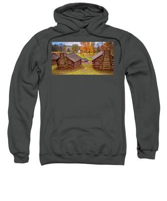Valley Forge Huts In Fall Sweatshirt