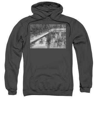 Water Flowing Over Dam In Wayne New Jersey Sweatshirt