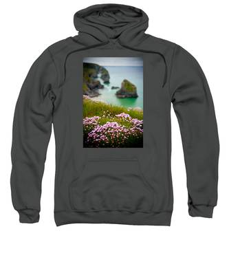 Wild Sea Pinks In Cornwall Sweatshirt
