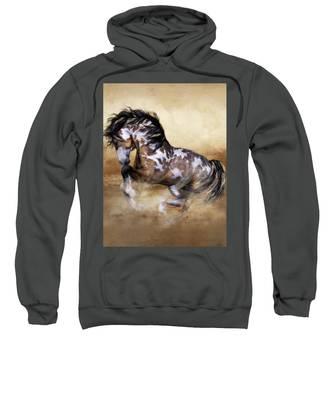 Wild And Free Horse Art Sweatshirt