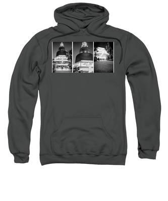 Black And White Triptych- Sweatshirt
