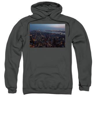 Dusk On New York City Sweatshirt
