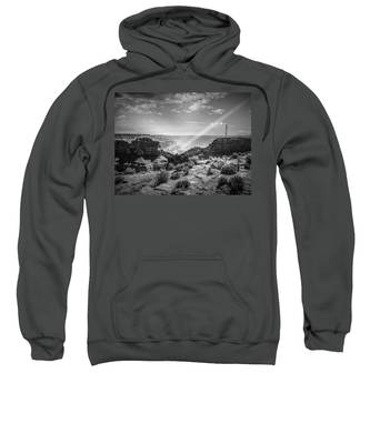 Eagle Rock, Grand Canyon In Black And White Sweatshirt