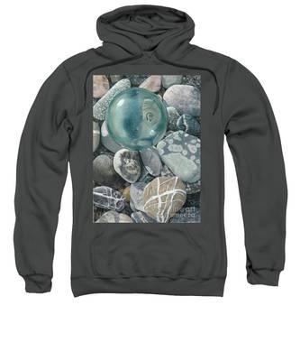 Glass Float And Beach Rocks Sweatshirt
