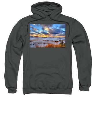 Snowy Sunset Sweatshirt