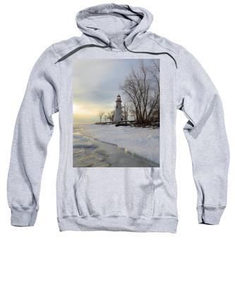 Marblehead Lighthouse Winter Sunrise Sweatshirt