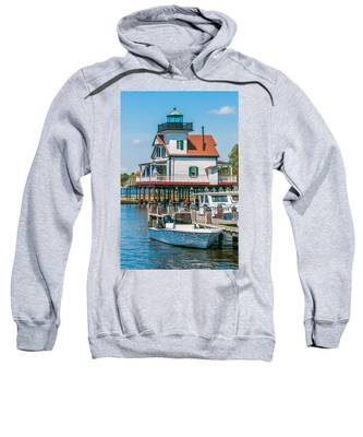 Town Of Edenton Roanoke River Lighthouse In Nc Sweatshirt