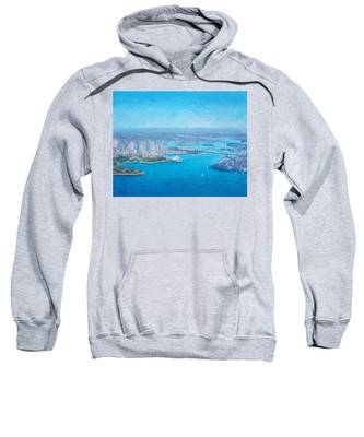 Sydney Harbour And The Opera House Aerial View  Sweatshirt