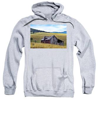 Sweatshirt featuring the painting A Time In Montana by Susan Kinney