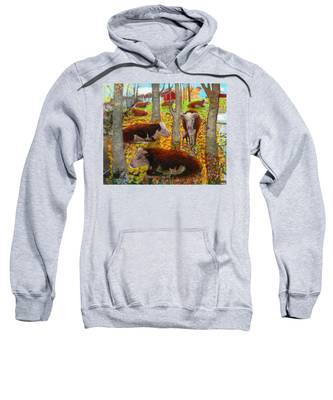 Autumn Cows Sweatshirt