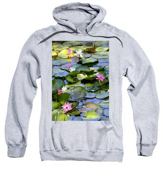 Colorful Water Lily Pond Sweatshirt