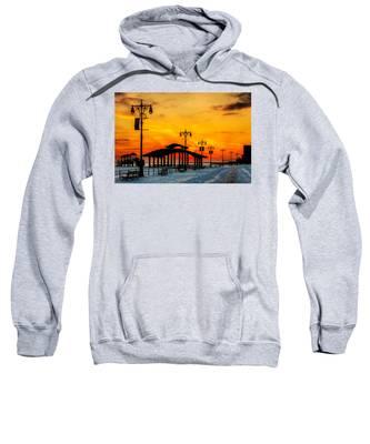 Coney Island Winter Sunset Sweatshirt