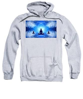 Sweatshirt featuring the digital art Cosmic Spiral Ascension 22 by Derek Gedney
