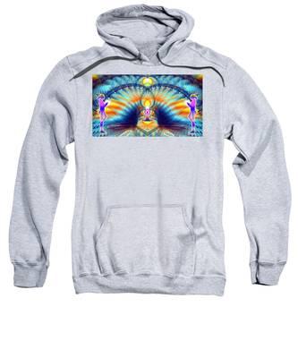 Sweatshirt featuring the digital art Cosmic Spiral Ascension 38 by Derek Gedney