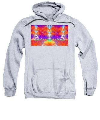 Sweatshirt featuring the digital art Cosmic Spiral Ascension 53 by Derek Gedney