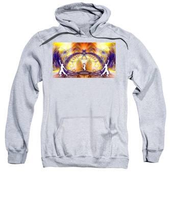 Sweatshirt featuring the digital art Cosmic Spiral Ascension 58 by Derek Gedney