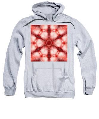 Sweatshirt featuring the digital art Cosmic Spiral Kaleidoscope 22 by Derek Gedney