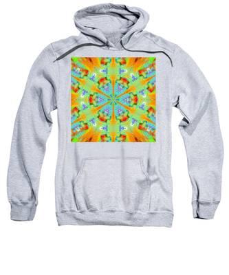 Sweatshirt featuring the digital art Cosmic Spiral Kaleidoscope 41 by Derek Gedney