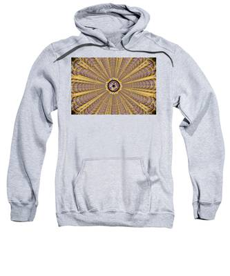 Sweatshirt featuring the drawing Dna Miracle Creation by Derek Gedney