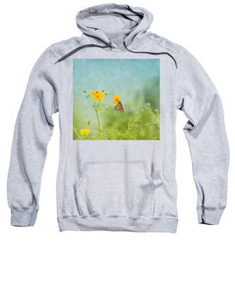 In The Garden - Monarch Butterfly Sweatshirt
