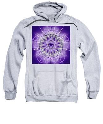 Sweatshirt featuring the drawing In'phi'nity Star-map by Derek Gedney