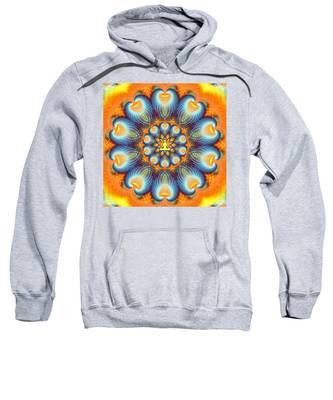 Sweatshirt featuring the digital art Meditation Galaxy 9 by Derek Gedney