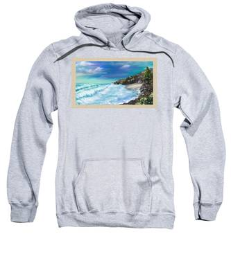 Sweatshirt featuring the painting My Private Ocean by Susan Kinney
