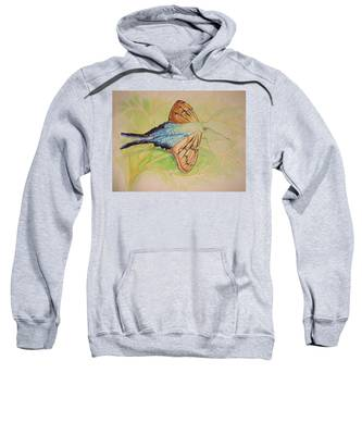 One Day In A Long-tailed Skipper Moth's Life Sweatshirt