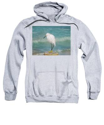 One With Nature - Snowy Egret Sweatshirt