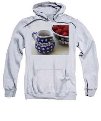 Raspberries With Cream Sweatshirt