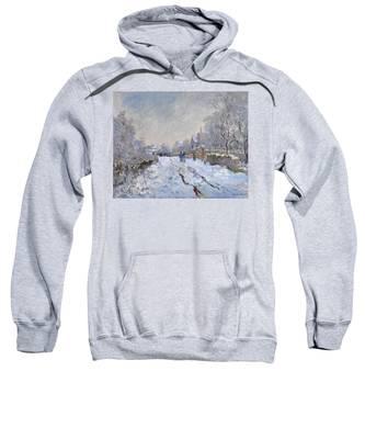 Snow Scene At Argenteuil Sweatshirt
