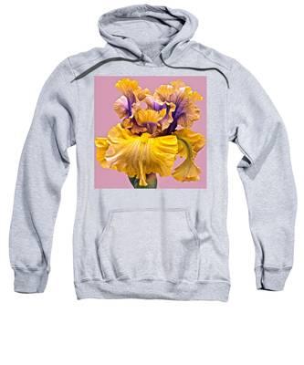Spectacular Iris Close Up Sweatshirt