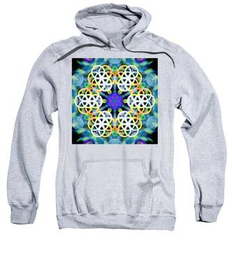 Sweatshirt featuring the digital art Subatomic Orbit by Derek Gedney