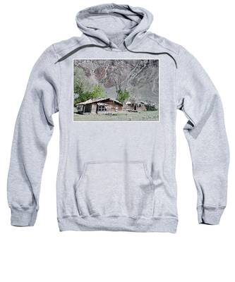 Sweatshirt featuring the photograph The Grass Is Greener When It's Growing On The Roof by Susan Kinney
