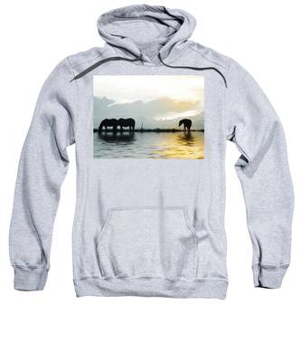 Sweatshirt featuring the photograph Alone by Susan Kinney