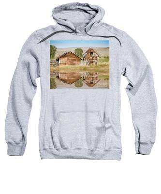 Reflection Of An Old Building Sweatshirt