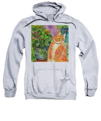Ginger With Flowers Sweatshirt