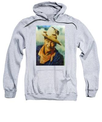 Portrait Of John Wayne Sweatshirt