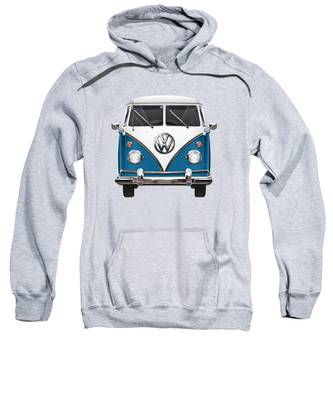 Blue Hooded Sweatshirts T-Shirts
