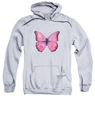 105 Pink Celestina Butterfly Sweatshirt