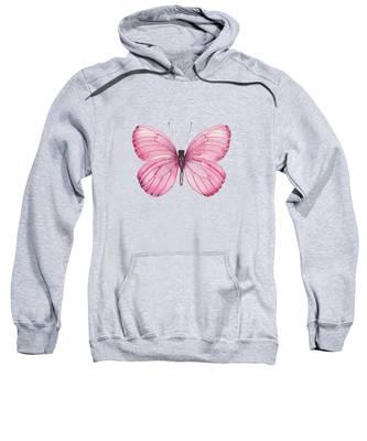 106 Pink Marcia Butterfly Sweatshirt