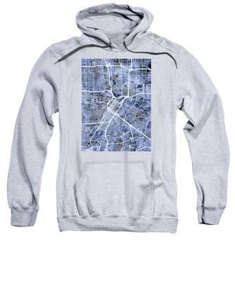 Houston Texas City Street Map Sweatshirt