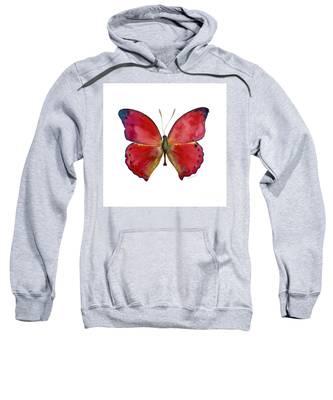 83 Red Glider Butterfly Sweatshirt