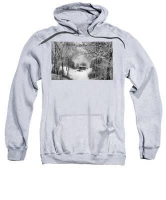 A Winter's Tale In Centerport New York Sweatshirt