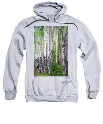 Aspen Grove In The White Mountains Sweatshirt