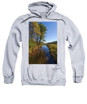 Autumn Stream At Justus Lake Sweatshirt by Lon Dittrick