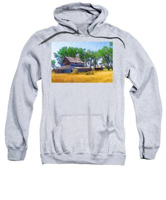 Sweatshirt featuring the photograph Barber Homestead by Susan Kinney