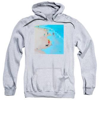 Beach Painting - Beach Day - By Jan Matson Sweatshirt