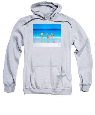 Beach Painting - Water Play  Sweatshirt