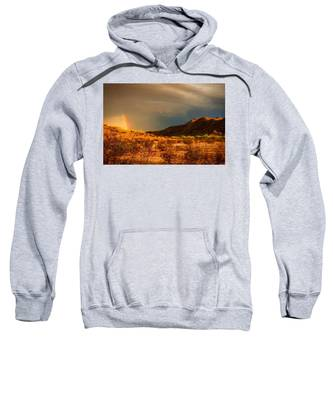 Sweatshirt featuring the photograph Beyond The Rainbow by Judy Kennedy